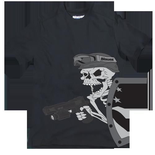 Blauer 8320 Skull and Shield T-Shirt