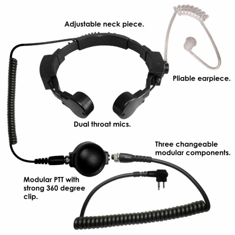 Code Red Assault Throat Microphone