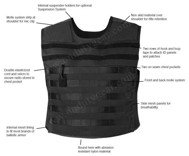 ArmorSkin Tac Vest 8375 Features